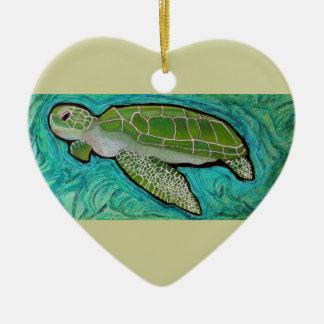 Green Sea Turtle Christmas Ornament