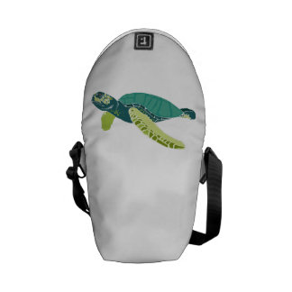Green Sea Turtle Courier Bags