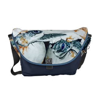Green Sea Turtle (Honu) Hatchlings Courier Bag