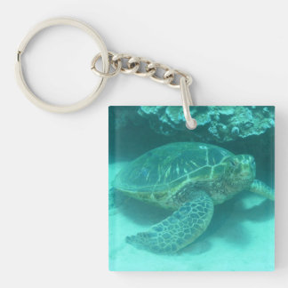 Green Sea Turtle Key Ring