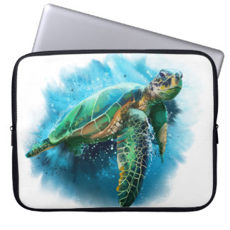 Green Sea Turtle Laptop Sleeve