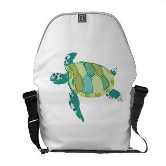 Green Sea Turtle Messenger Bags