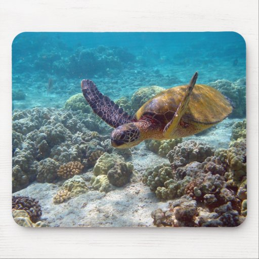Green Sea Turtle Mouse Mat
