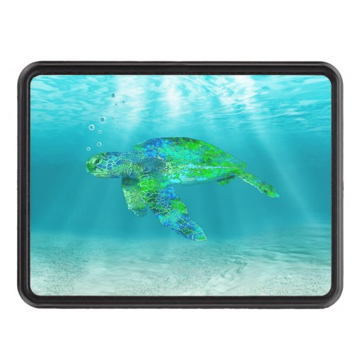Green Sea Turtle Trailer Hitch Covers