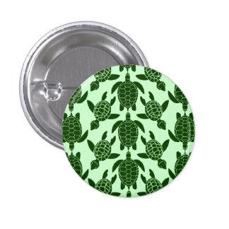 Green Sea Turtle Pretty Animal Pattern 3 Cm Round Badge