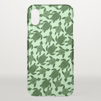 Green Sea Turtle Pretty Animal Pattern iPhone X Case