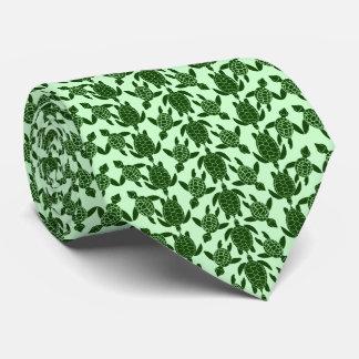 Green Sea Turtle Pretty Animal Pattern Tie