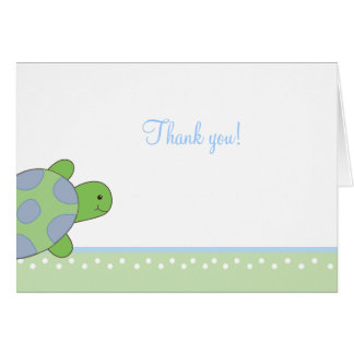 Green Sea Turtle seaturtle Folded Thank you notes