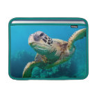 Green Sea Turtle Swimming Over Coral Reef |Hawaii MacBook Sleeve