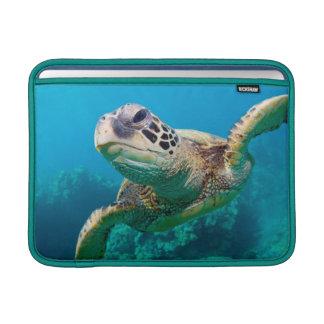 Green Sea Turtle Swimming Over Coral Reef |Hawaii MacBook Sleeve