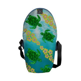 Green Sea Turtles Courier Bags