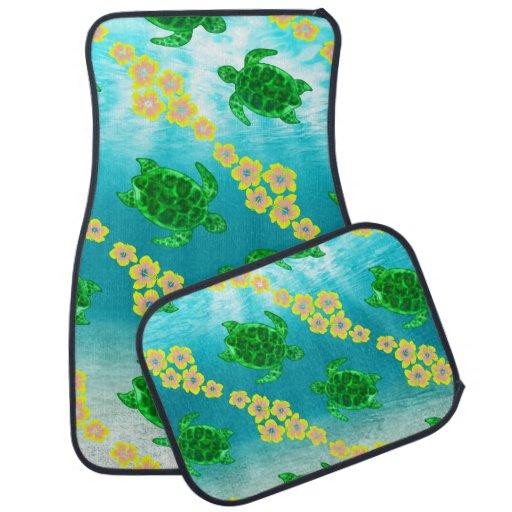Green Sea Turtles Floor Mat