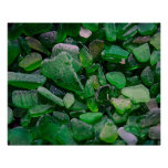 Green Seaglass Posters