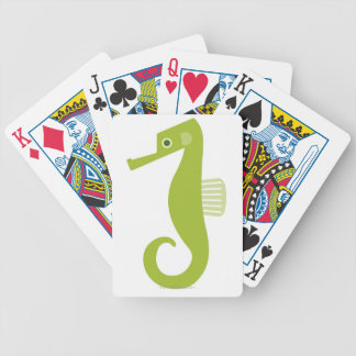 Green Seahorse Bicycle Playing Cards