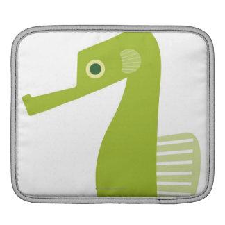 Green Seahorse iPad Sleeve