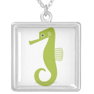 Green Seahorse Pendants