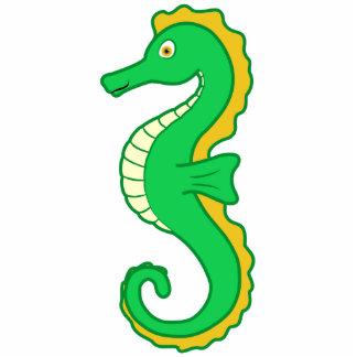 Green Seahorse Photo Sculpture Ornament