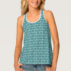 Green Seahorse Weave Tank Top