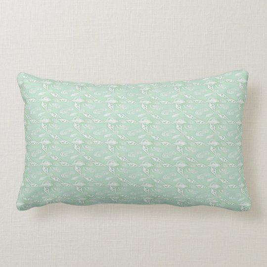 Green Seashells Lumbar Pillow