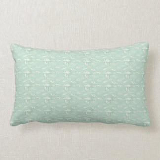 Green Seashells Lumbar Pillow