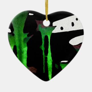 Green Sensation. Ceramic Heart Decoration