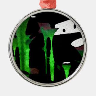 Green Sensation. Silver-Colored Round Decoration