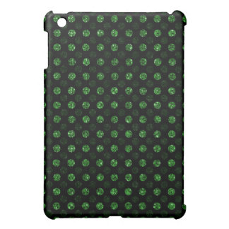 Green Sequin Effect Dots - Dark iPad Mini Cover