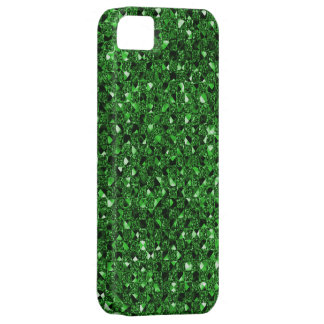 Green Sequin Effect Phone Cases iPhone 5 Cases
