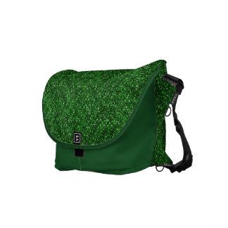Green Sequin Effect Rickshaw Messenger Bag