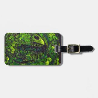 Green Serpent ( dark animal symbolism) Luggage Tag