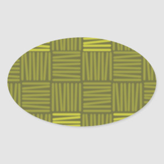 Green shades background oval sticker