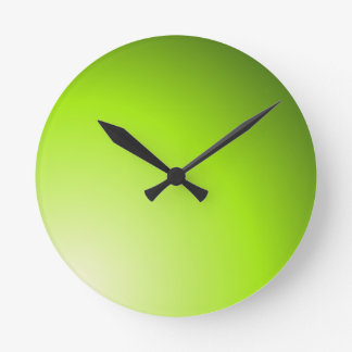 Green Shades of Lime Round Clock
