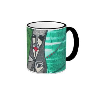 Green Shaman Ringer Mug