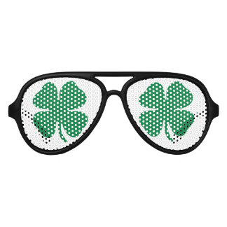 Green Shamrock Aviator Sunglasses