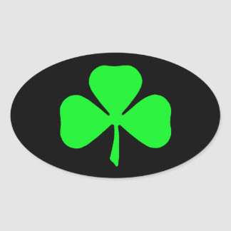 Green Shamrock Car Stickers