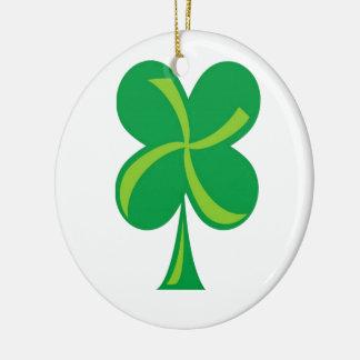 Green Shamrock Christmas Ornament