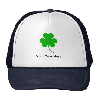 Green Shamrock Clover for St. Patrick's Day Mesh Hats