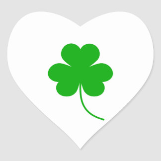 Green Shamrock Clover for St. Patrick's Day Stickers
