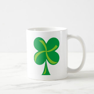 Green Shamrock Coffee Mug
