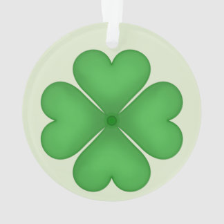 Green Shamrock Four leaf Clover Hearts