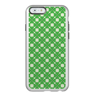Green Shamrock Four leaf Clover Hearts pattern Incipio Feather® Shine iPhone 6 Case