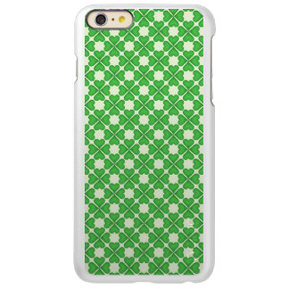 Green Shamrock Four leaf Clover Hearts pattern iPhone 6 Plus Case