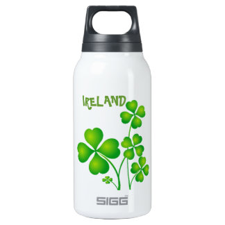 Green Shamrock From Ireland Insulated Water Bottle