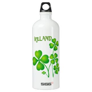 Green Shamrock From Ireland Water Bottle