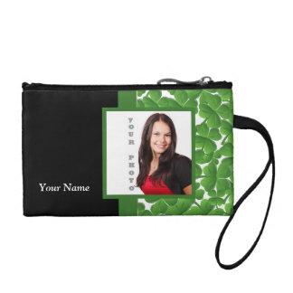 Green shamrock instagram template coin purse