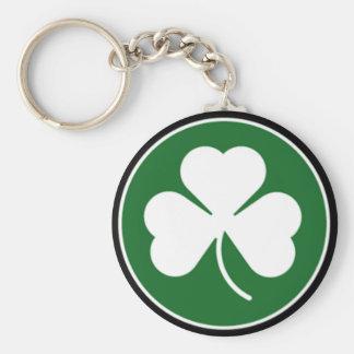 Green Shamrock Key Ring