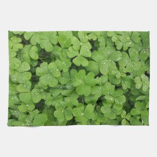 Green shamrock kitchen towel