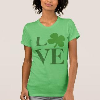 Green Shamrock Love T Shirts