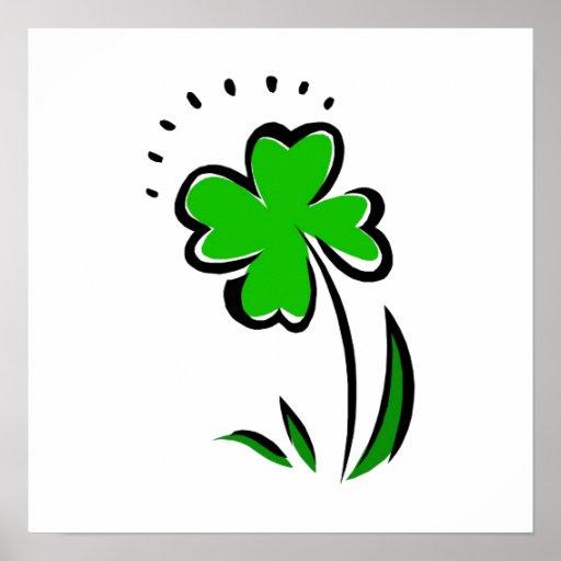 Green Shamrock Poster