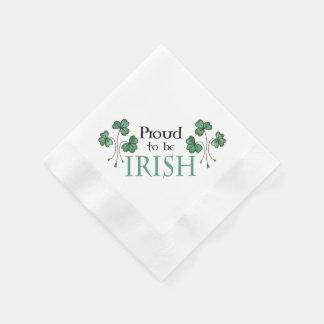 Green Shamrock Proud to be Irish Paper Napkins